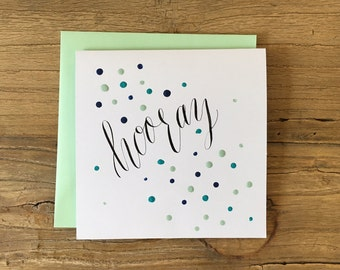 Hooray card | Color options!
