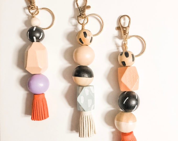 Featured listing image: The Boldest Keychain with Tassel & Clip