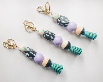 Mermaids Are Real Keychain with Tassel & Clip