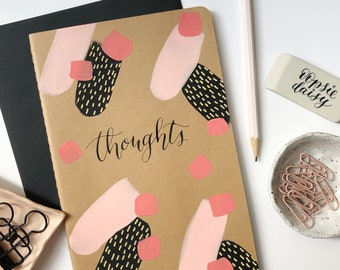 Thoughts hand-painted journal