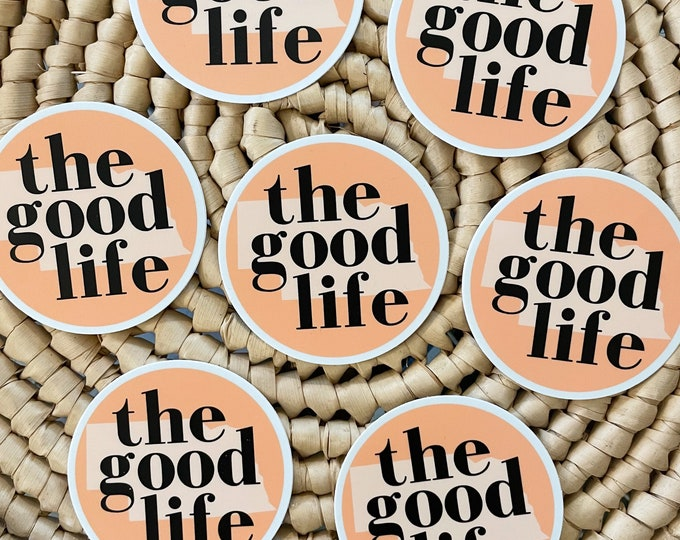 Featured listing image: The Good Life | laptop sticker