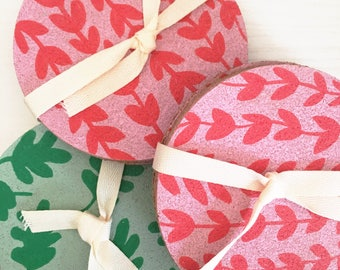 Cute & Corky Coasters | Handpainted cork coasters | Set of 4