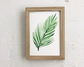 Watercolor Fern | 5x 7 original watercolor painting | Not a print | READY TO SHIP