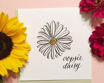 Oopsie Daisey card