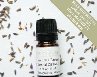 Lavender Breeze Diffuser Blend, Essential Oil Blend, Lavender, Peppermint, Natural Fragrance, Home Fragrance, Room Fragrance, Aromatherapy