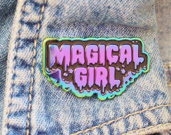 Rainbow Metal Enamel Pin. Magical Girl Lapel Pin. Kawaii Sailor Moon Gift. Cute and Creepy Aesthetic Pin. Cardcaptor Sakura. Madoka Magica.