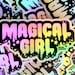 "Rose Willums reviewed Holographic Sticker 4x3"" Weatherproof Vinyl / Magical Girl / Shiny Rainbow / Drippy Punk Pastel Goth / Kawaii Harajuku Decora / Sailor Moon"