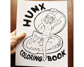 SALE Hunx Coloring Book Mature Content His Punx Seth Bogart LGBTQ Punk Adult Fan Art Illustrations