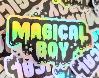 Holographic Sticker. Weatherproof Vinyl Decal. Magical Boy Shiny Iridescent Sticker. Sailor Moon Steven Universe Madoka