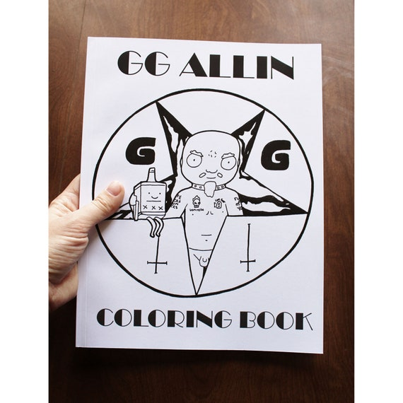 GG Allin Coloring Book Mature Content Punk Adult