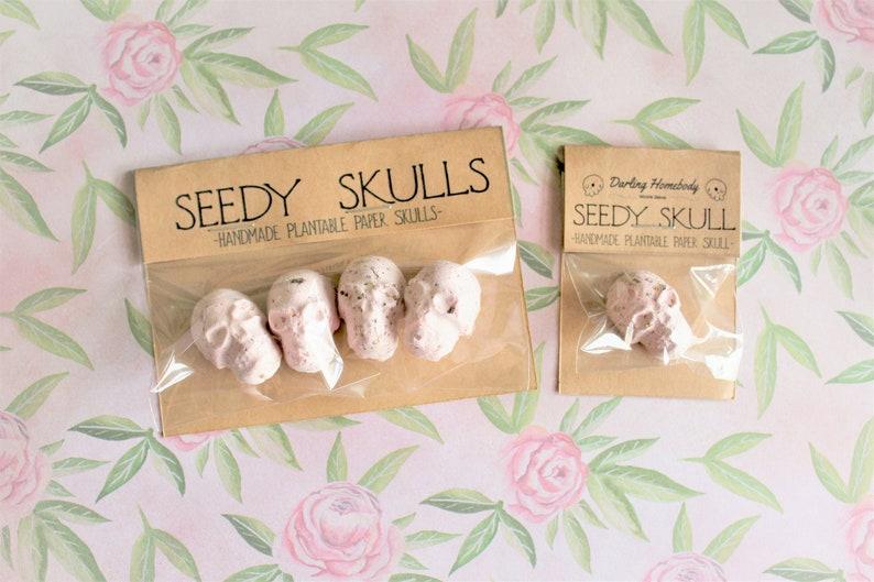 Plantable Paper Skulls / Seed Bombs / Blush Pink Seedy Skulls image 0