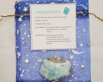 Amazonite Crystal | Raw Amazonite | Healing crystals| Heart chakra | Throat chakra