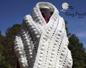Prayer Shawl Berries & Lattice Hand-Crocheted, Prayer Wrap, Bolero, Christmas Sale, Shrug, Wrap