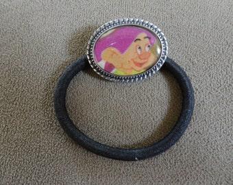 Rare Vintage 1952 Snow White Dopey the Dwarf Pony Tail Holder