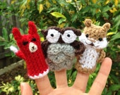 Items Similar To Woodland Forest Animal Finger Puppets On Etsy
