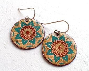 Flower Mandala Earrings