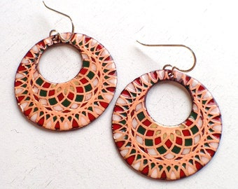 Mandala Statement Earrings