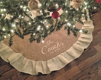 popular items for personalized christmas tree skirt - Christmas Tree Skirts Etsy