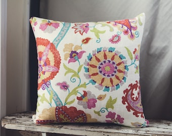 50cm Cushion Cover in Duralee Designs in Rosedust, upholstery weight.