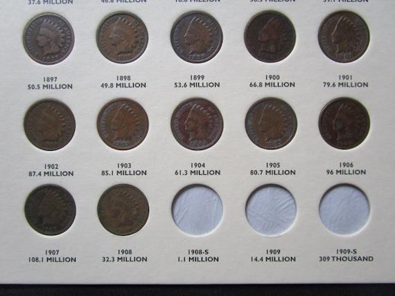 American Coin Treasures 1800s Indian Penny Goldtone Tie Clip