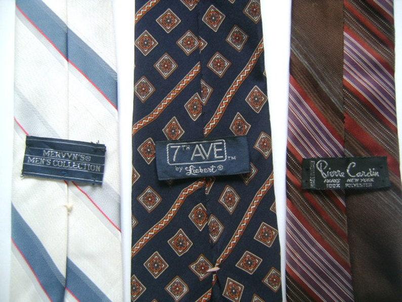 Necktie Lot of 3 Vintage Pierre Cardin Made in Italy 7TH Avenue Liebert Mervyn/'s Men/'s Collection White Blue Brown Designers Neck Wear Ties