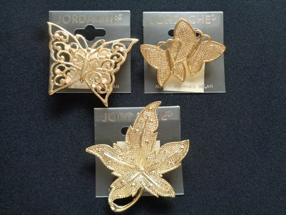Gold Tone Metal Large Leaf Leaves Craft Accents Jewelry Findings Pack of 10