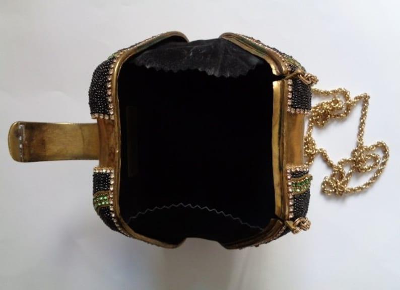 fe0f60c0b Rare M   J Hansen Designs Mesmerizing Brass w  Black Beads Red