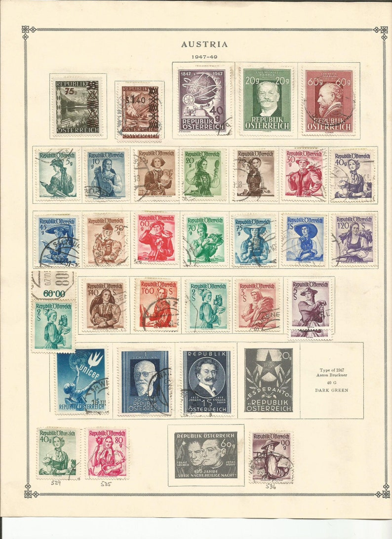 Austria Stamp Collection 105 Stamps From 1945 1949 Used
