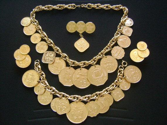 Franklin Mint Parure Complète Bijoux Ensemble Les Caraïbes Etsy