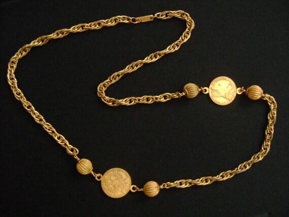 Miriam Haskell Goldene Medaillon Münze Bilder Von R Imp Hu Bo Etsy