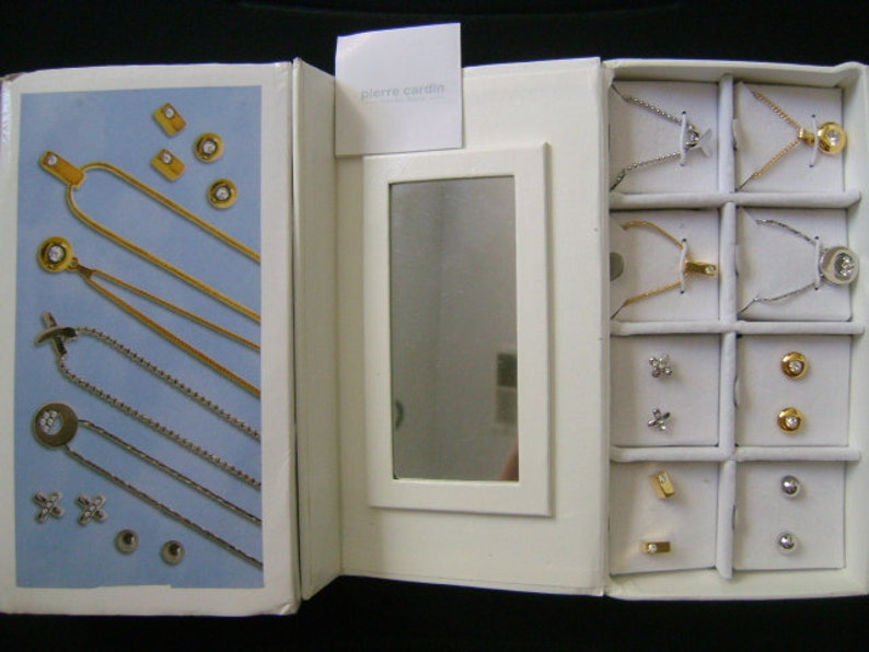ecc3202cd5de Designer PIERRE CARDIN Fashion Bijoux 8 Piece Stud Earrings