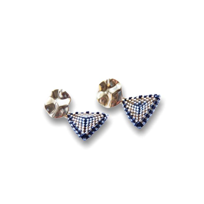 Miyuki Metallic BlackGold Segovia Earrings