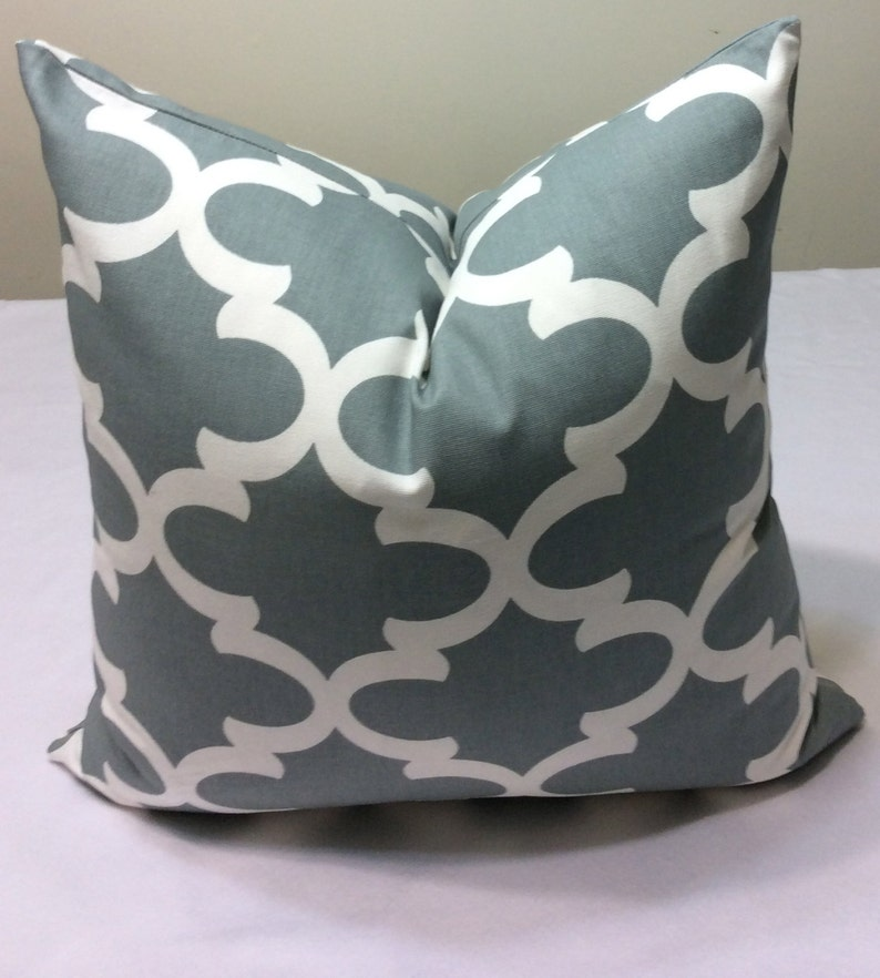 18x18 DESIGNER Grey and White  Decorative Throw Pillow Cover CUSHION Cover