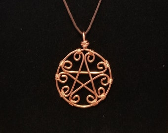 Twisted Wire Pentacle Necklace