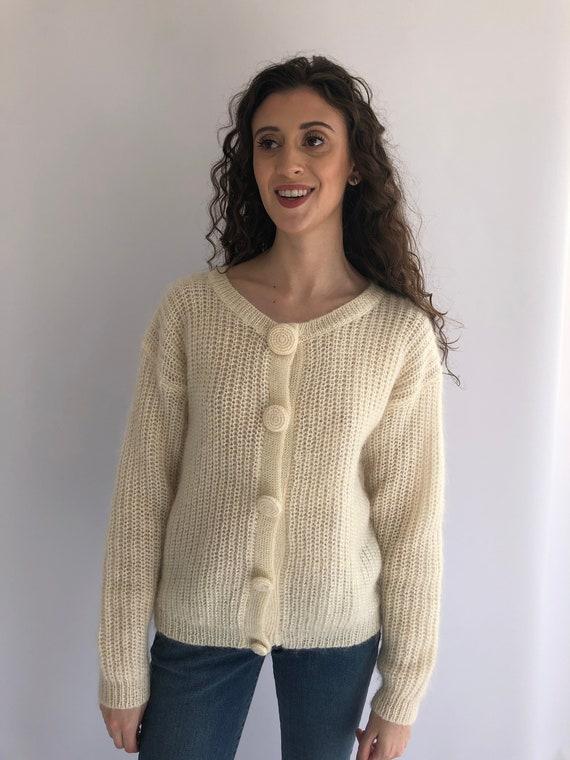the latest 4b3b4 12836 White Mohair Cardigan, Mohair Sweater, Fuzzy Sweater, Fuzzy White Sweater,  Soft Sweater, Cardigan, Vintage White Cardigan