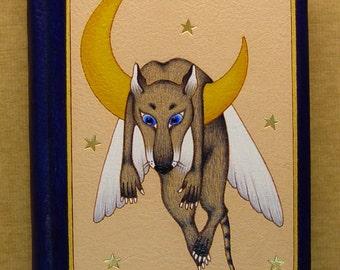 Handmade Leather Notebook Icarus Rat