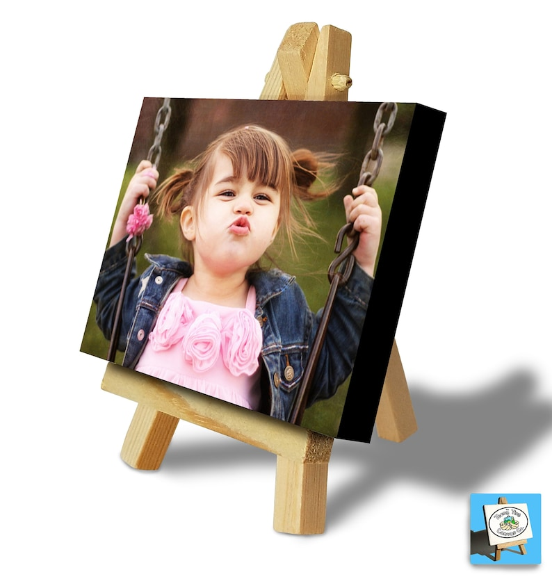 PERSONALISED PHOTO PRINTING onto Mini Canvas & Easel Set  image 0