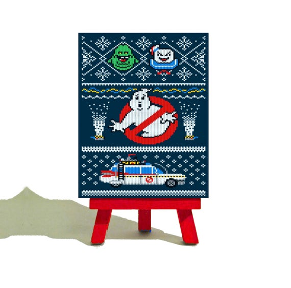 Mini Canvas /& Easel Great Gift KERMIT CHRISTMAS COLLECTIBLE