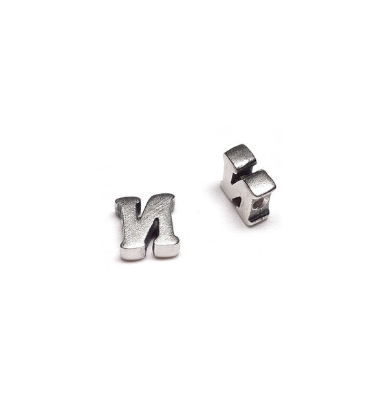 "Sterling silver ALPHABET BEAD square 5.5 mm /""S/"""