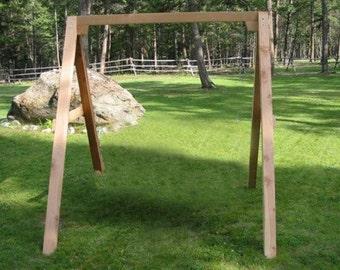 A frame for 4' or 5' Swings