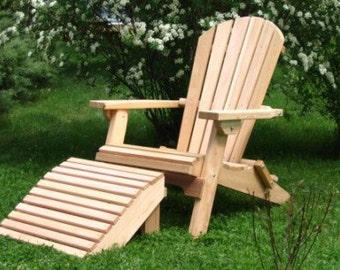 Amish Crafted Folding Adirondack Chair with Ottoman
