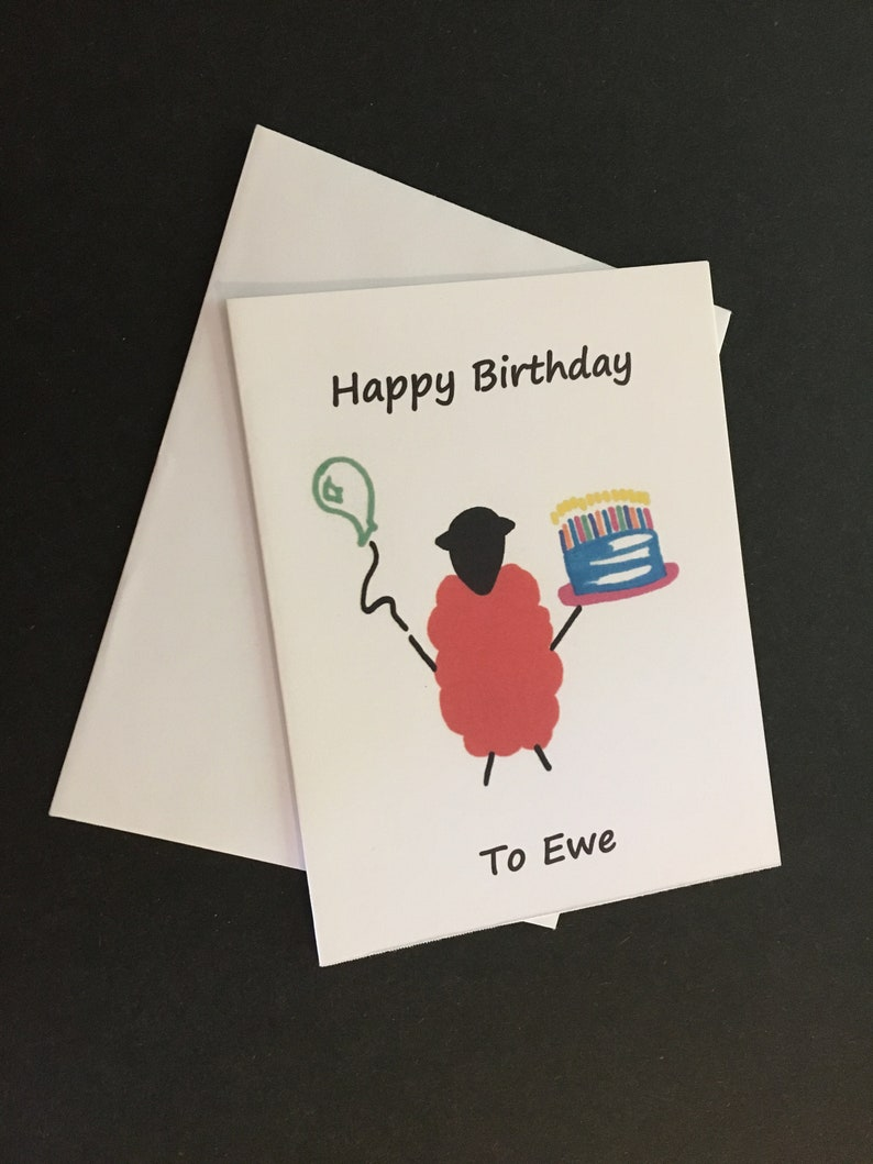 Birthday Card / Happy Birthday to Ewe image 0