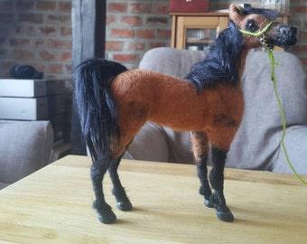 Pet Portrait, Needle felted arabian horse  Pianissima MADE TO ORDER