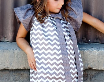 Girls Custom Peasant Dress- Custom Boutique Dress- Peasant Dress- Size 6-9mo, 12-18mo, 2T, 3T, 4T, and 5yr- The Dotted Duck