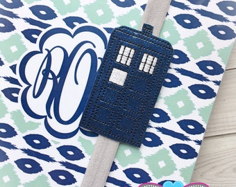 Tardis Planner Band - Planner Band - Doctor Who Planner Band - Planner Bands- Planner Accessory - Planner Accessories - Doctor Who - Tardis