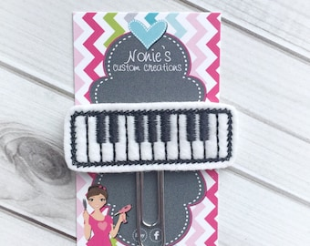 Piano Paper Clip - Keyboard Paper Clip - Planner Accessories - Piano Feltie- Piano Keys Paper Clip - Planner Accessory