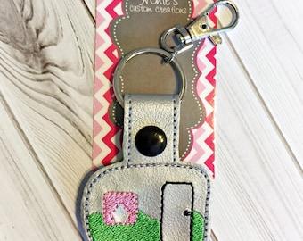 Camper Keychain - RV Keychain - Camper Trailer Keychain - RV Camper Keychain