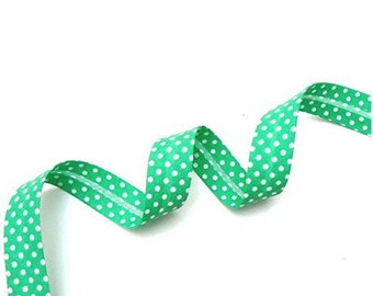 Bias belt with dots 18 mm emerald-Green 67