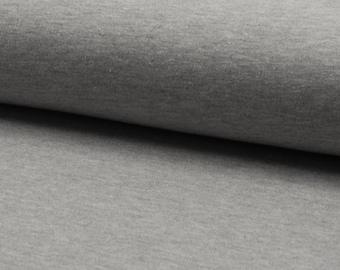 Jersey uni light grey melange 1.4 m wide approx. 240g/m2