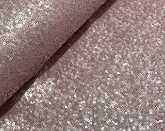 Sequin fabric old pink